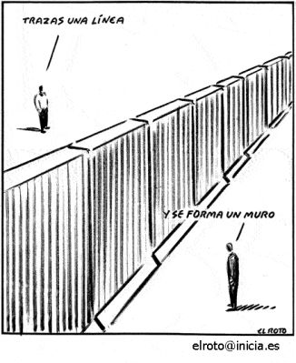 Trazas una línea, y se forma un muro